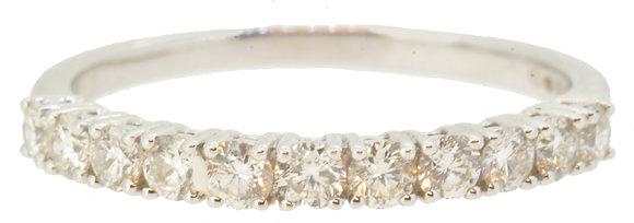 18ct White Gold 0.51ct Diamond Half Eternity Ring
