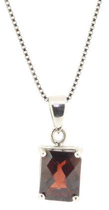 9ct white gold garnet necklace