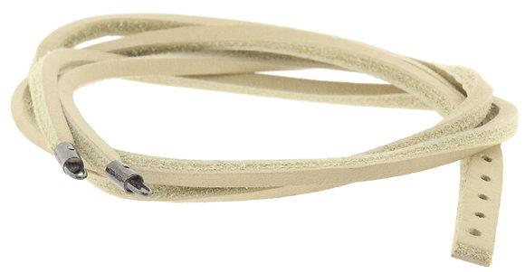Authentic Trollbead Beige Leather Bracelet 43cm - L510645