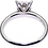 18ct white gold 0.45ct diamond cluster ring back view