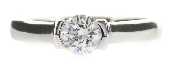 18ct white gold 0.50ct diamond ring front view