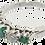 Thumbnail: 18ct White Gold & Platinum Emerald & Diamond Ring
