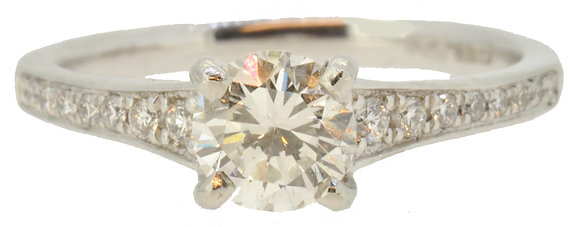 Platinum Certified 0.70ct Diamond Ring