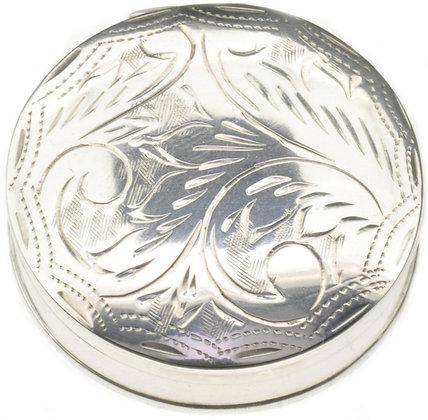 Round Silver Box