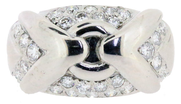 18ct white gold 0.80ct diamond ring front view