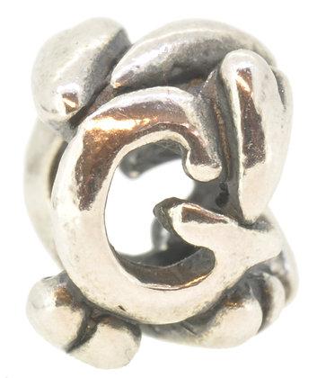 Silver Trollbeads Letter G