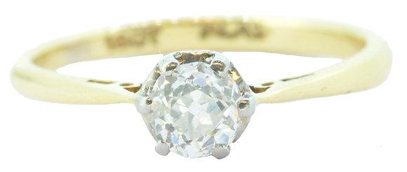 18ct Yellow Gold Single Stone 0.44ct Diamond Ring