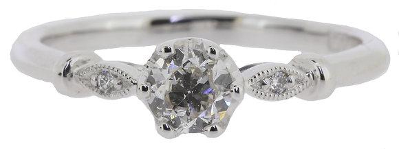 Platinum 0.36ct Diamond Ring Front View