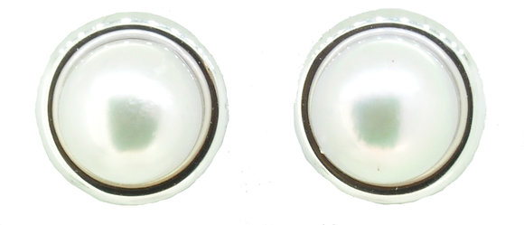 9ct White Gold Cultured Pearl Studs