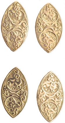 10ct yellow gold cufflinks
