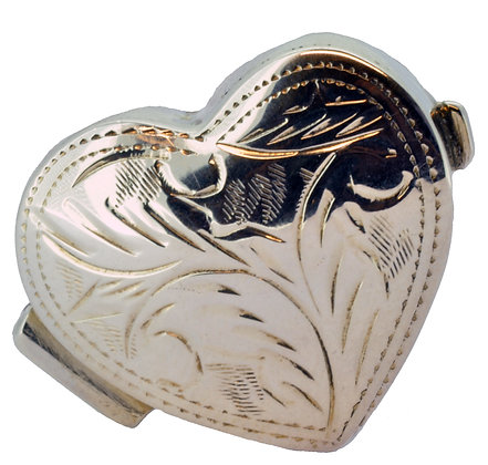 Silver Heart Pill Box