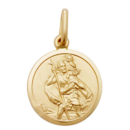 9ct Yellow Gold St.Christopher Pendant