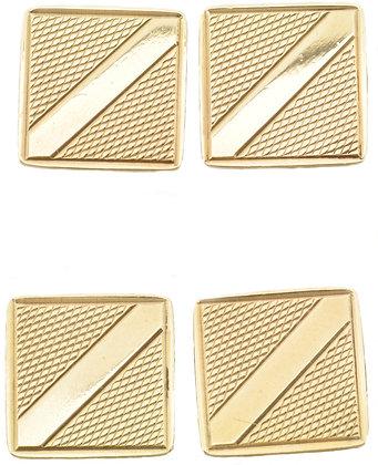 9ct yellow gold hallmarked cufflinks