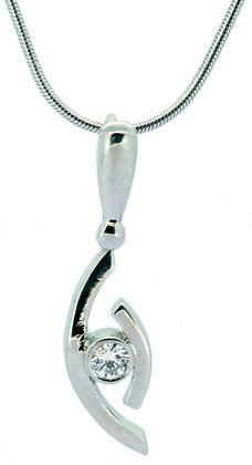 Platinum 0.10ct diamond necklace