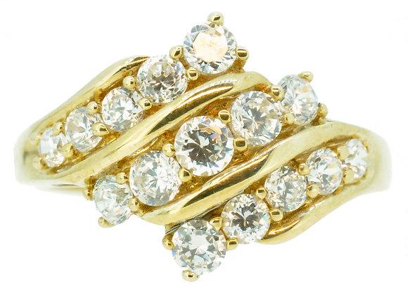 9ct Yellow Gold CZ Ring