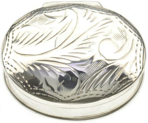 Silver Oval Box