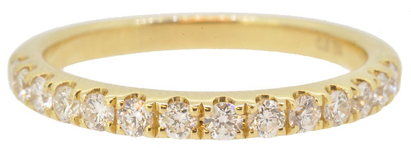 18ct Yellow Gold 14 Stone 0.49ct Diamond Half Eternity Ring