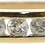 9ct yellow gold 0.33ct diamond half eternity ring front view