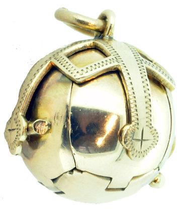 9ct yellow gold and silver Masonic ball