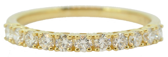 18ct Yellow Gold Diamond Half ET Ring front view