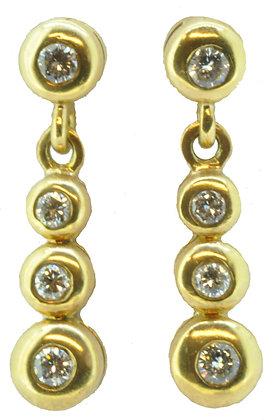 18ct yellow gold 0.35ct diamond earrings