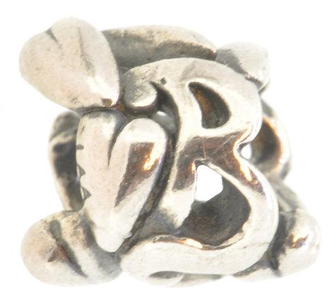 Silver Trollbeads Letter B