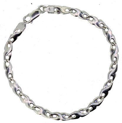 White Gold Flat Bracelet
