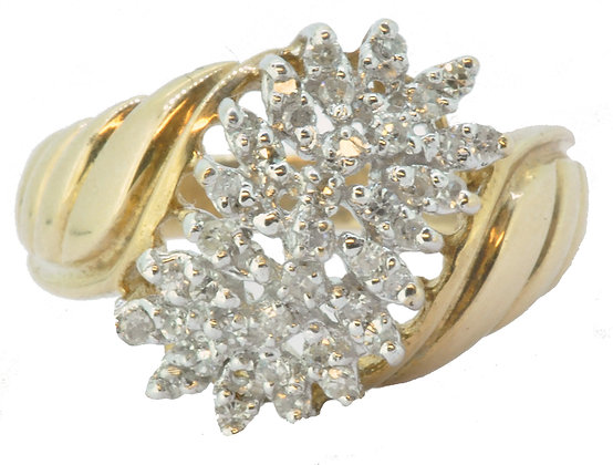 Yellow Gold 0.25ct Diamond Ring