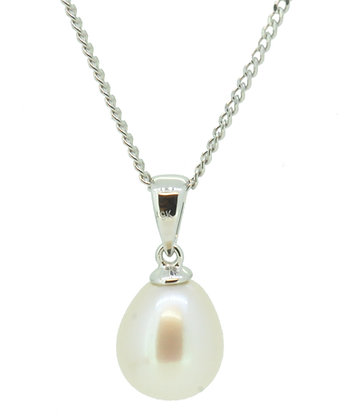 9ct White Gold Fresh Water Pearl Necklace