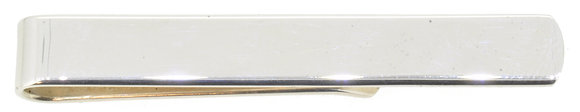 Sterling Silver Tie Bar Front View