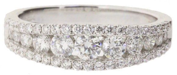18ct white gold 1.01ct diamond ring front view
