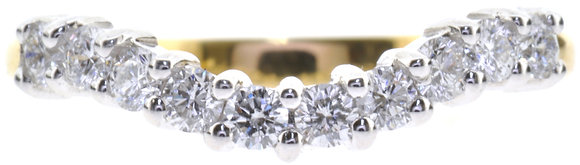 18ct yellow gold diamond ring front view