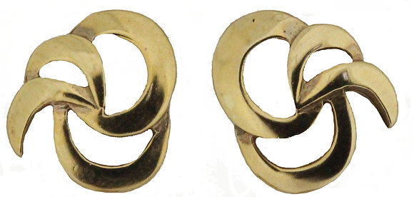 9ct Yellow Gold Open Stud Earrings