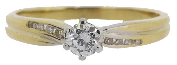 Yellow Gold Diamond Ring Front View