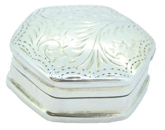 Silver Hexagonal Pill Box