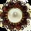 Thumbnail: 9ct Gold Pearl & Garnet Ring