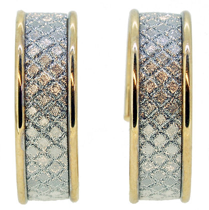 9ct Yellow Gold Sparkle Hoops