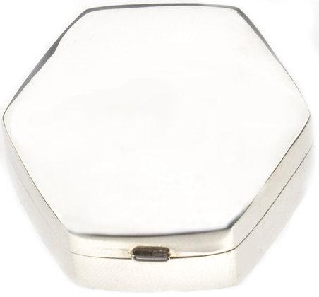 Silver Hexagonal Box