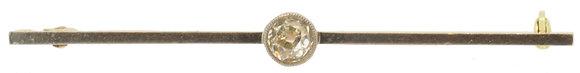15ct Yellow Gold 0.28ct Diamond Brooch