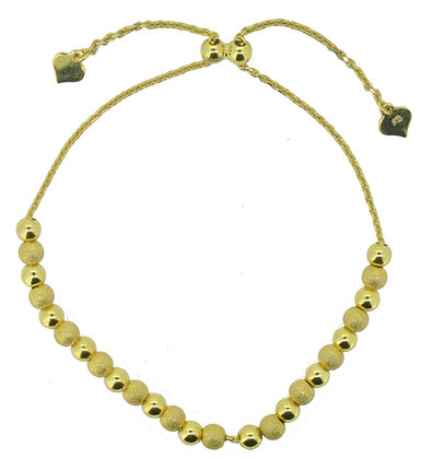 9ct yellow gold adjustable bracelet