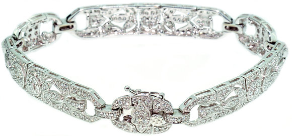 18ct white gold and diamond braclet