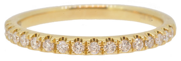 18ct Yellow Gold Diamond Half Eternity Ring Front View