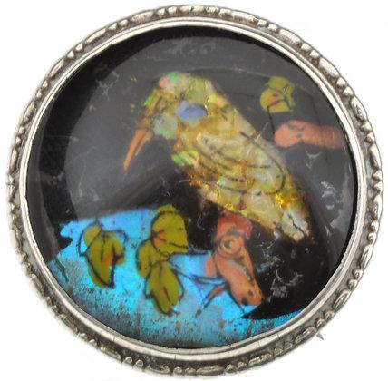 Vintage Silver Opal Chips Brooch