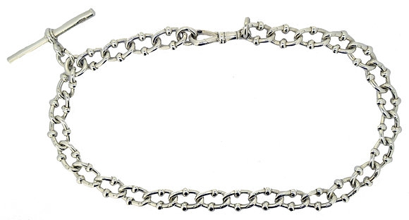 Hallmarked Silver Fancy Albert Chain
