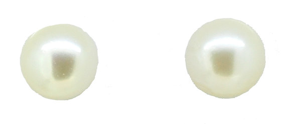 9ct Yellow Gold Cream Pearl Studs