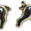 silver pig cufflinks