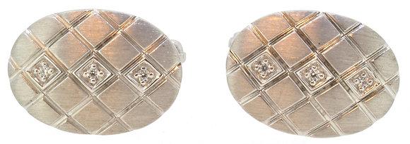 Silver Cufflinks Front View