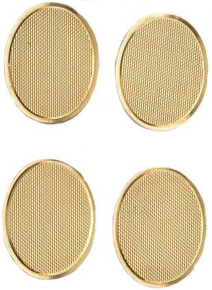 9ct yellow gold hallmarked oval cufflinks