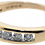 9ct yellow gold 0.33ct diamond half eternity ring side view