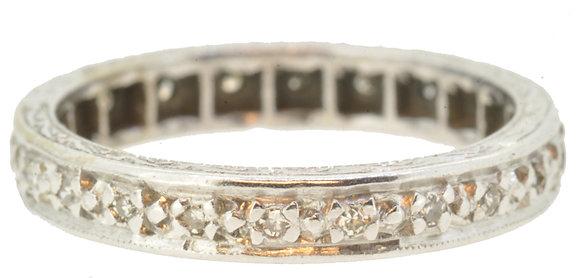 18ct White Gold 0.22ct Diamond Full Eternity Ring